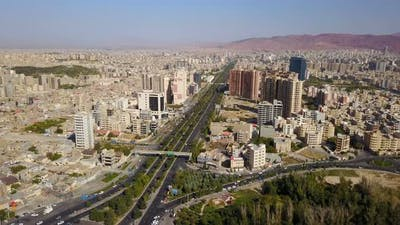 View of Historical City Tabriz in Time, Iran