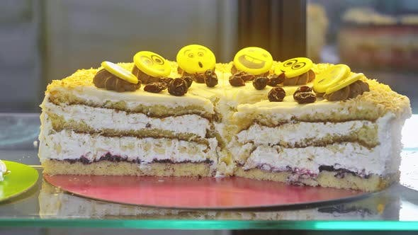 Thumbnail for Fresh Cakes on Confectionery Display