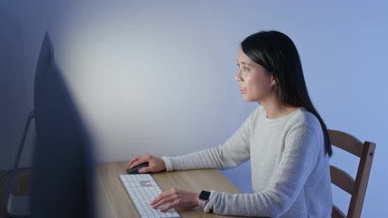 Thumbnail for Woman work on computer