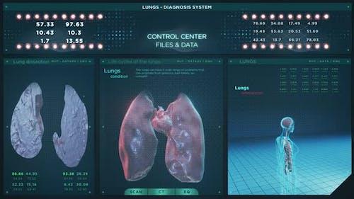 Lungs Diagnostic System Futuristic HUD