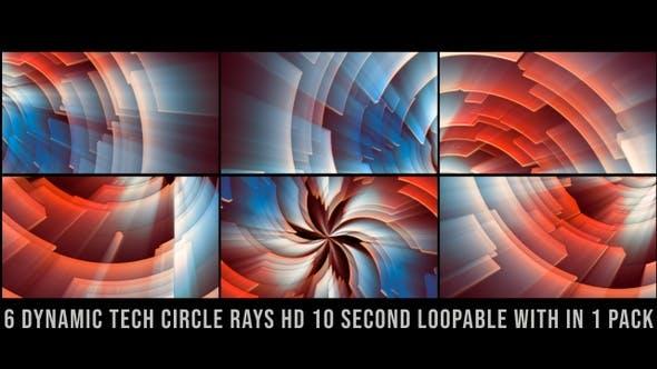 Thumbnail for Dynamic Tech Circle Rays Pack Red V01