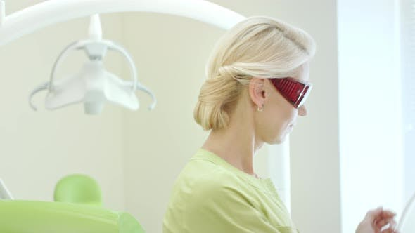 Thumbnail for Portrait of Stomatologist Holding Dental Curing Light for Oral Cavity