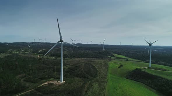 Thumbnail for Aerial View of Windmills on Wind Farm