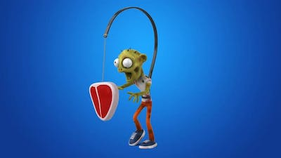 Fun 3D cartoon Zombie looking for meat