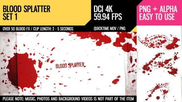 Thumbnail for Blood Splatter (4K Set 1)