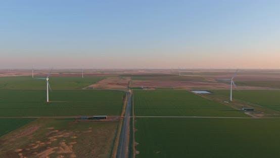 Eine Windkraftanlage im ländlichen West Texas
