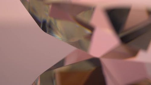 Specular Reflection of the Thick Edge of the Diamond in Pink Color
