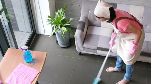 House maid enjoy doing house work