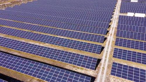 Photovoltaics Solar Cells in Solar Power Station