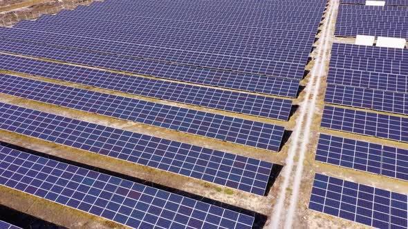 Photovoltaik-Solarzellen im Solarkraftwerk