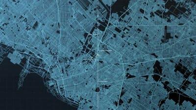 Futuristic Digital City Map GPS 01