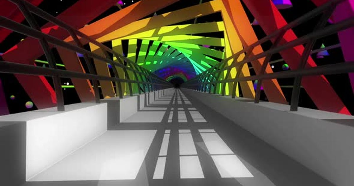 Colorful Bridge Tunnel Hd