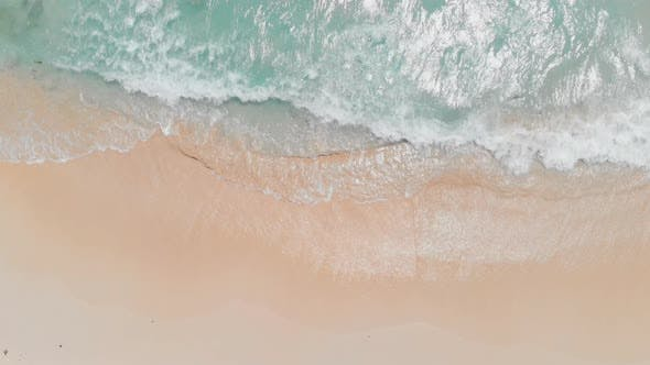 Thumbnail for Aerial View of Sea Waves on Tropical Beach