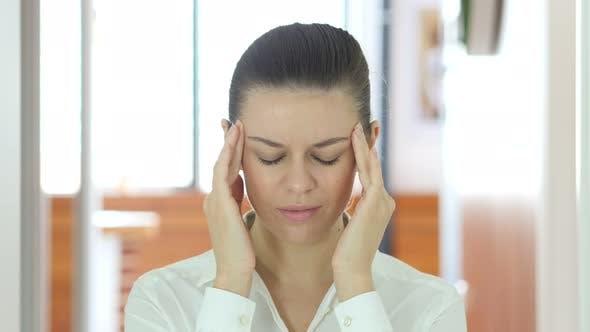 Thumbnail for Headache, Tense Working Woman, Indoor