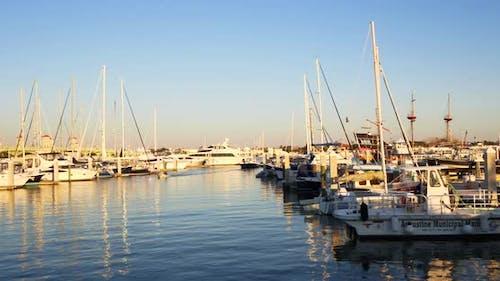 Motion Video Of The St Augustine Municipal Marina 4k