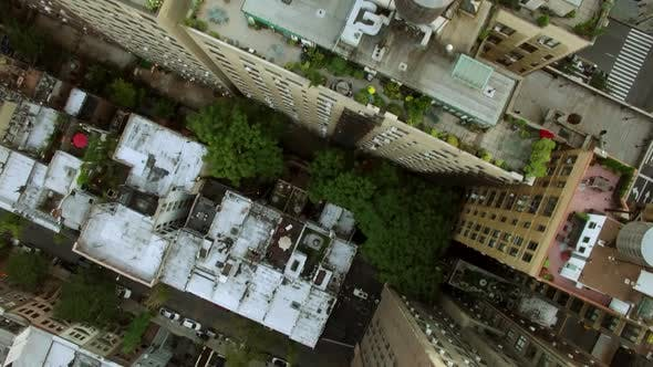Establishing Shot Manhattan New York City Skyline Business District