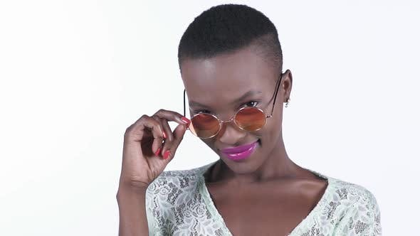 Thumbnail for Pretty African Woman Wearing Sunglasses