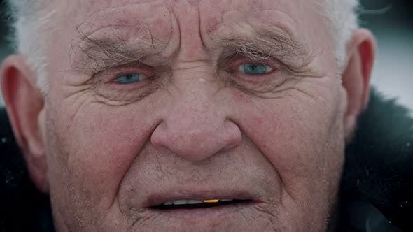Thumbnail for Elderly Grandfather - Portrait of a Smiling Grandfather with Golden Teeth