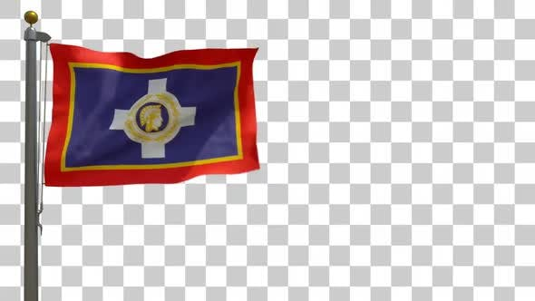 Thumbnail for Athens Flag on Flagpole with Alpha Channel