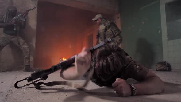 Thumbnail for Strong-willed Injured Soldier Crawling on Floor