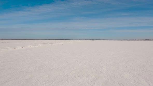 Thumbnail for Winter Snow Field. Winter Landscape.