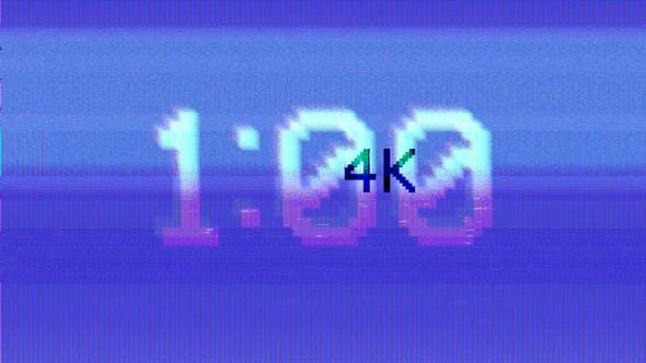 4k CRT 60 Sec Countdown