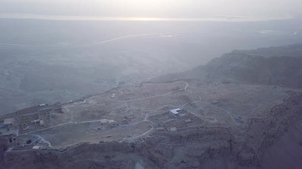 Thumbnail for Aerial Masada and Dead Sea View in the Morning