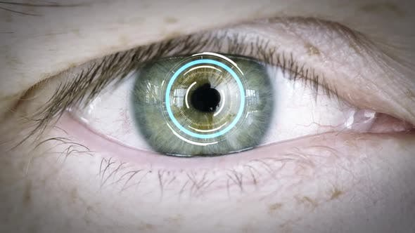 Thumbnail for Close Up of Male Eye with Iris or Retinal Scan 17