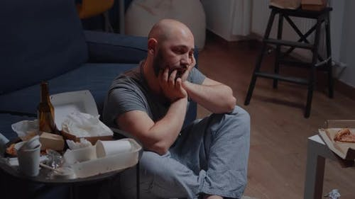 Tired Victim of Stress Thinking About Suicide Considering Best Solve of Problems