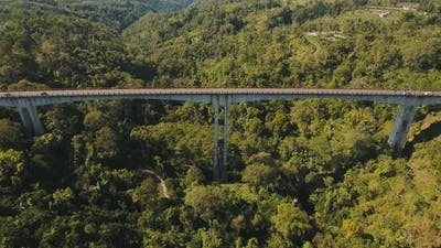 Bridge Over Mountain Canyon in the Jungle