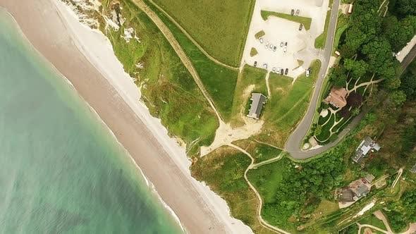 Thumbnail for Etretat Church Aerial in France