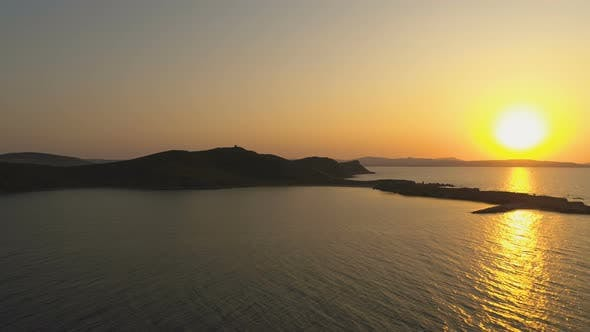 Thumbnail for Beautiful Sea Sunset with Vivid Colors in Greece