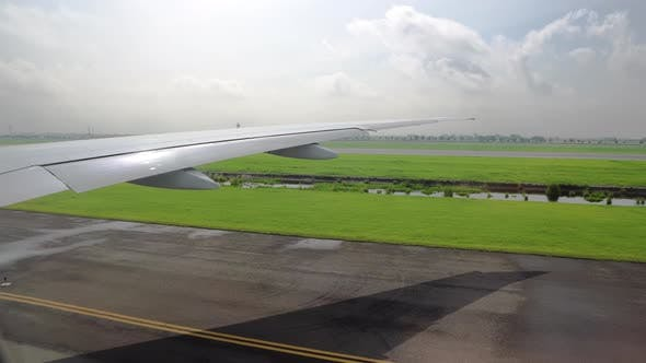 Thumbnail for View of the Wing of the Aircraft From the Window. Aviation and Passenger Transportation