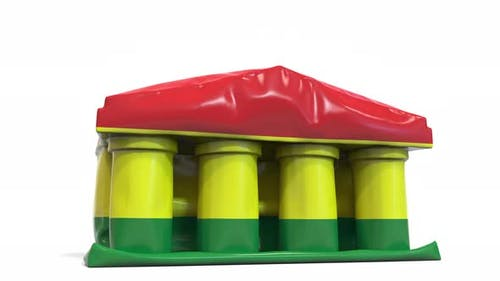 Deflating Bank Government Building Flag Bolivia