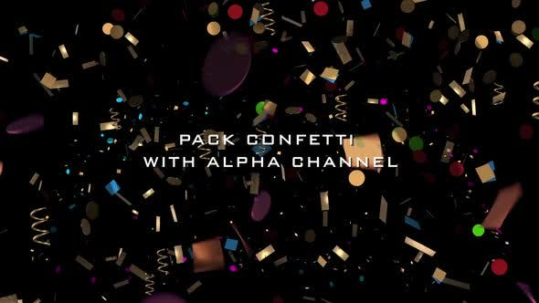 Thumbnail for Pack Confetti With Alpha Channel