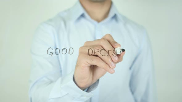 Thumbnail for Good Decision, Writing On Screen