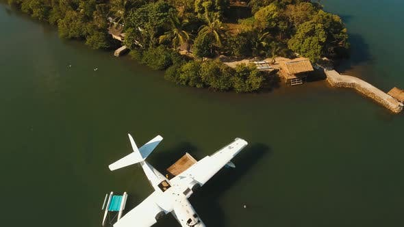 Cover Image for Seaplane on Sea Water Surface