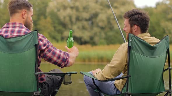 Thumbnail for Happy Friends Fishing and Drinking Beer on Lake 39