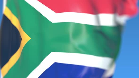 Thumbnail for Flying National Flag of South Africa