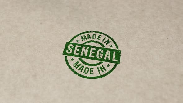 Made in Senegal stamp and stamping