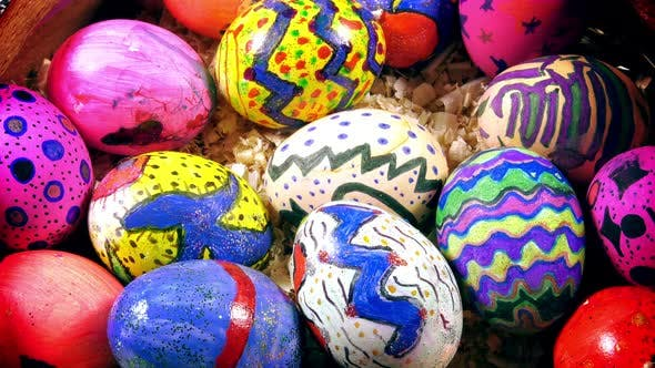 Thumbnail for Colorful Easter Paschal Eggs Celebration
