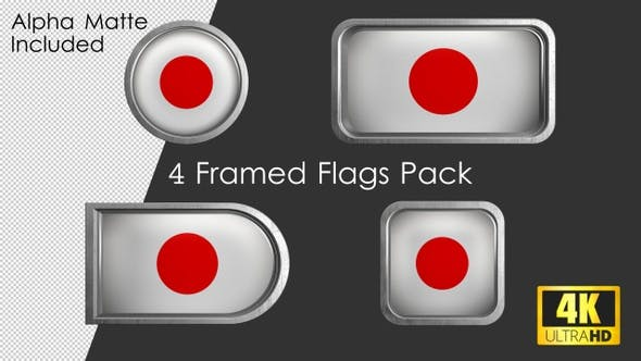 Thumbnail for Framed Japan Flag Pack
