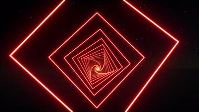 Red Neon Tunnel Technology Network Concept Vr Software