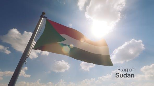 Thumbnail for Sudan Flag on a Flagpole V2