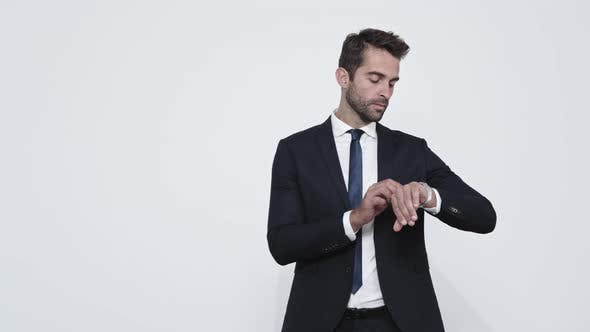 Thumbnail for Businessman Checking Time