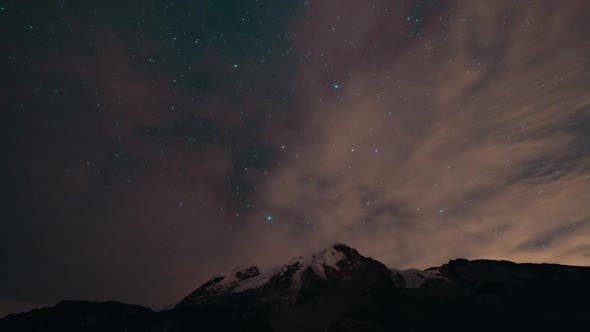 Thumbnail for Cayambe, Ecuador, Timelapse  - The milky way above the Cayambe