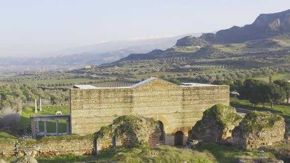Old Greece Structure Aerial View 12