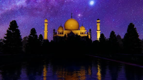 Thumbnail for Mosque At Night 2K