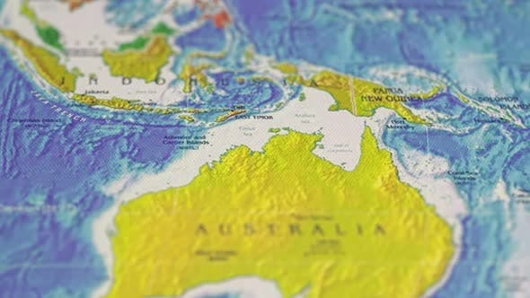 Thumbnail for Geographic Map Image Of Earth Surface In Oceania Australia