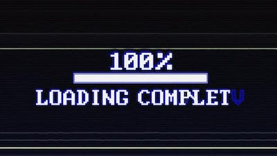 Loading Bar and Loading Complete Text